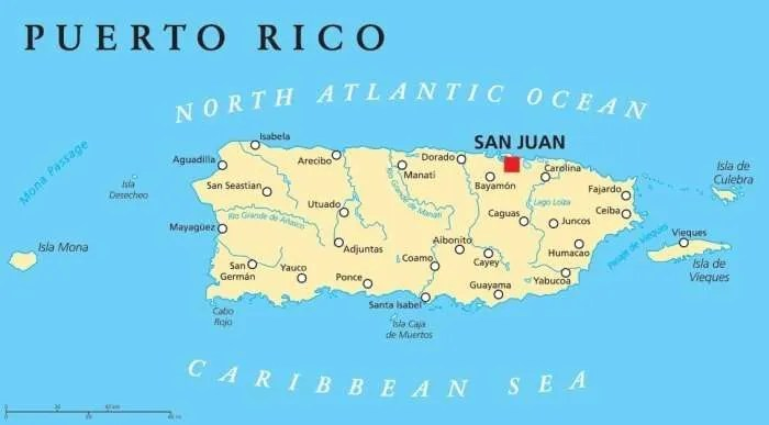 Puerto Rico Map Employee Or Independent Contractor - Puerto rico maps