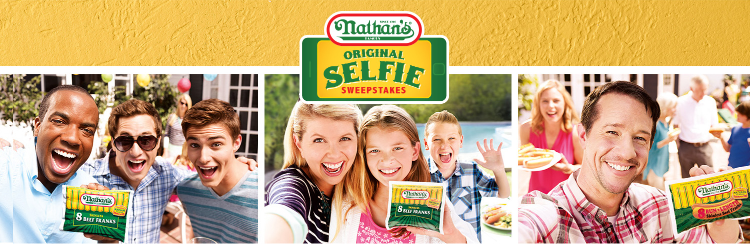 Nathan's Famous Original Selfie Sweepstakes