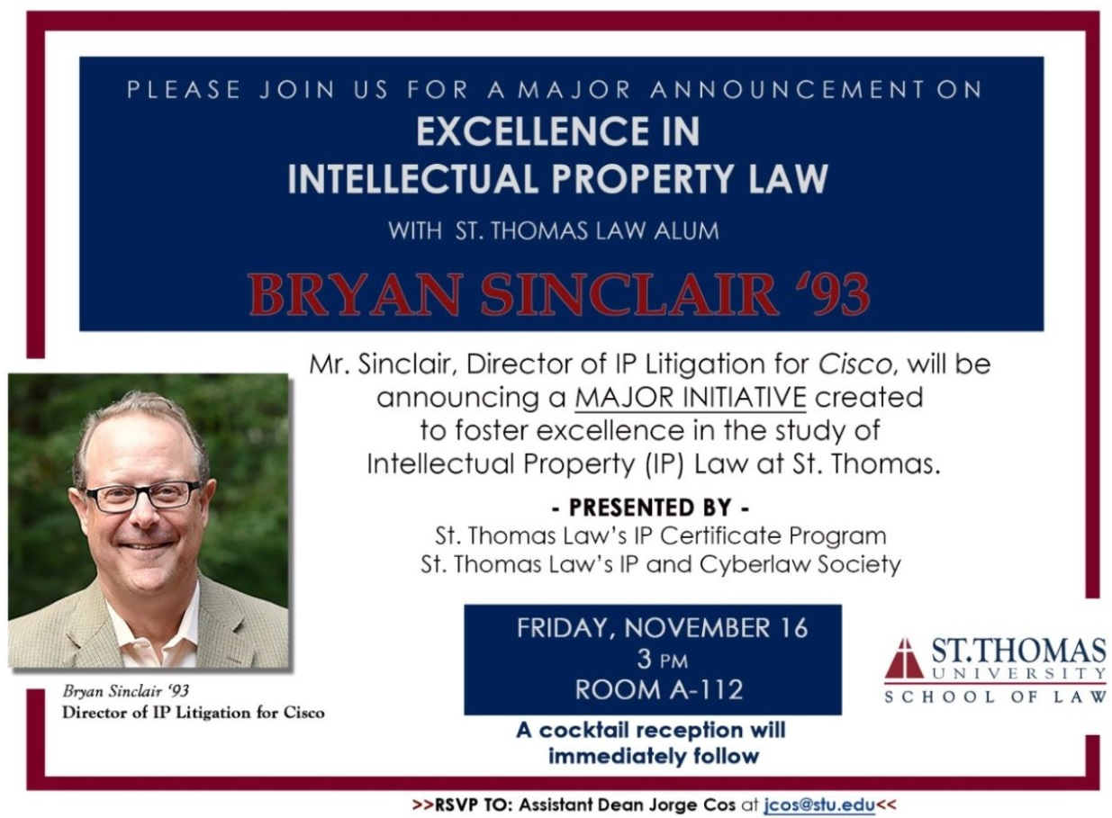 IP at STU Law: Please join us for a special event – Professor Nathenson