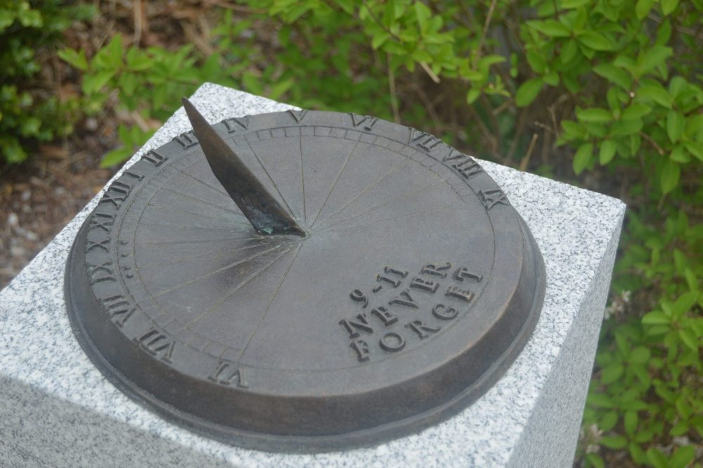 9-11 sundial at police station