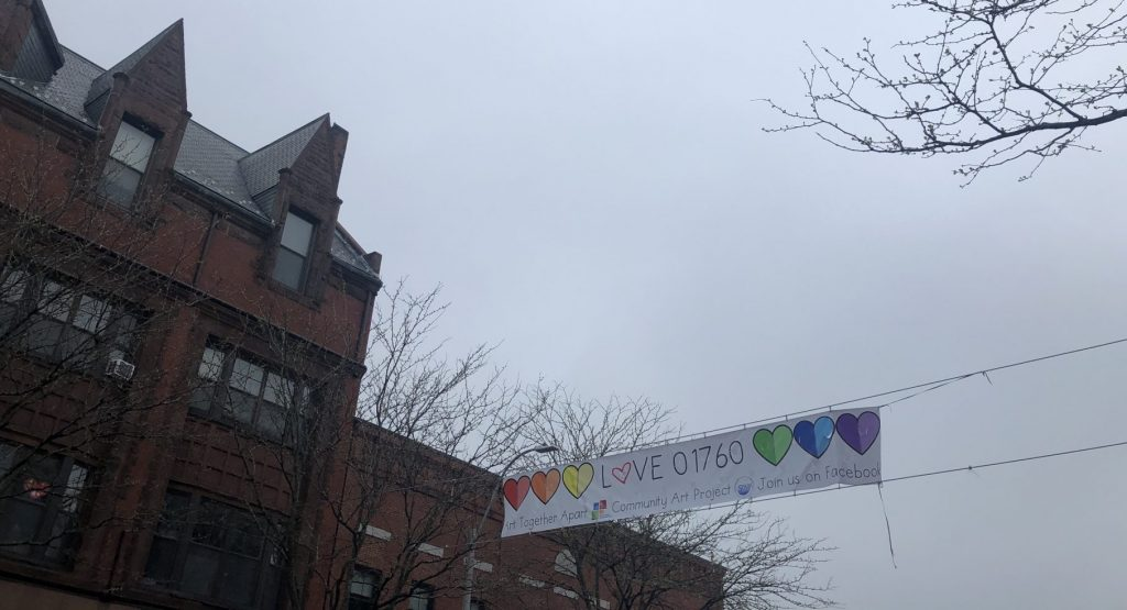 Love 01760 banner downtown Natick