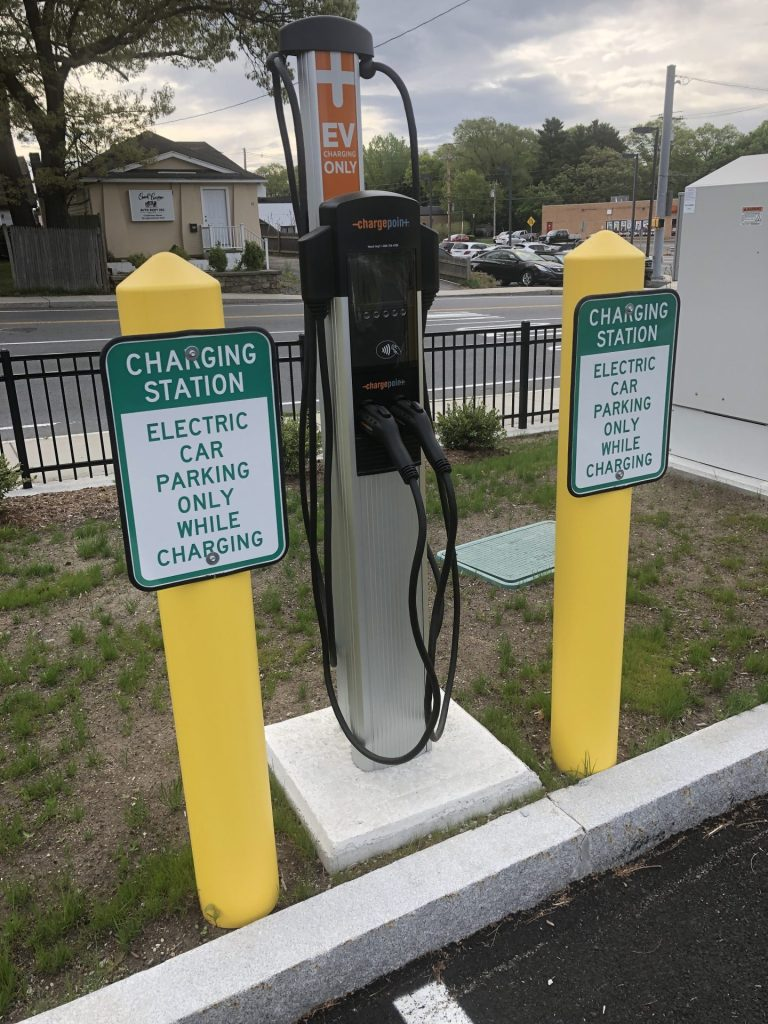 electric charging stations at east school