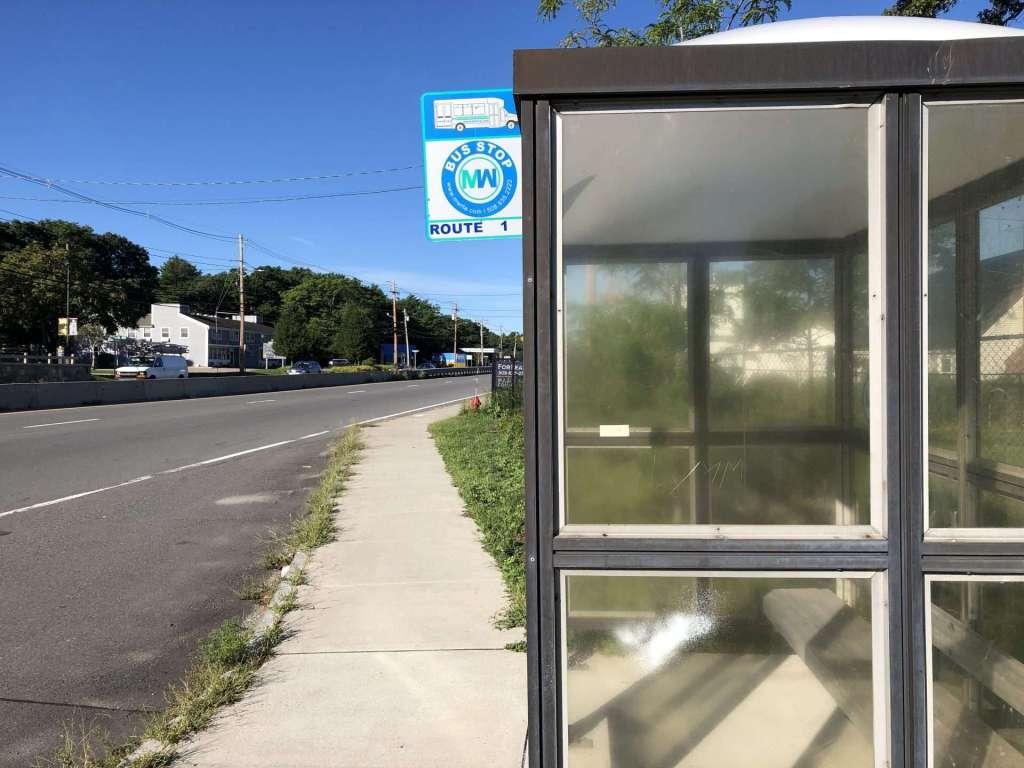 MWRTA bus stop rte 9 w