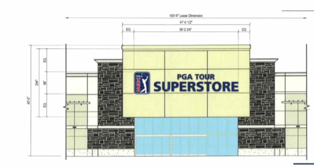 PGA Tour Superstore sign proposal