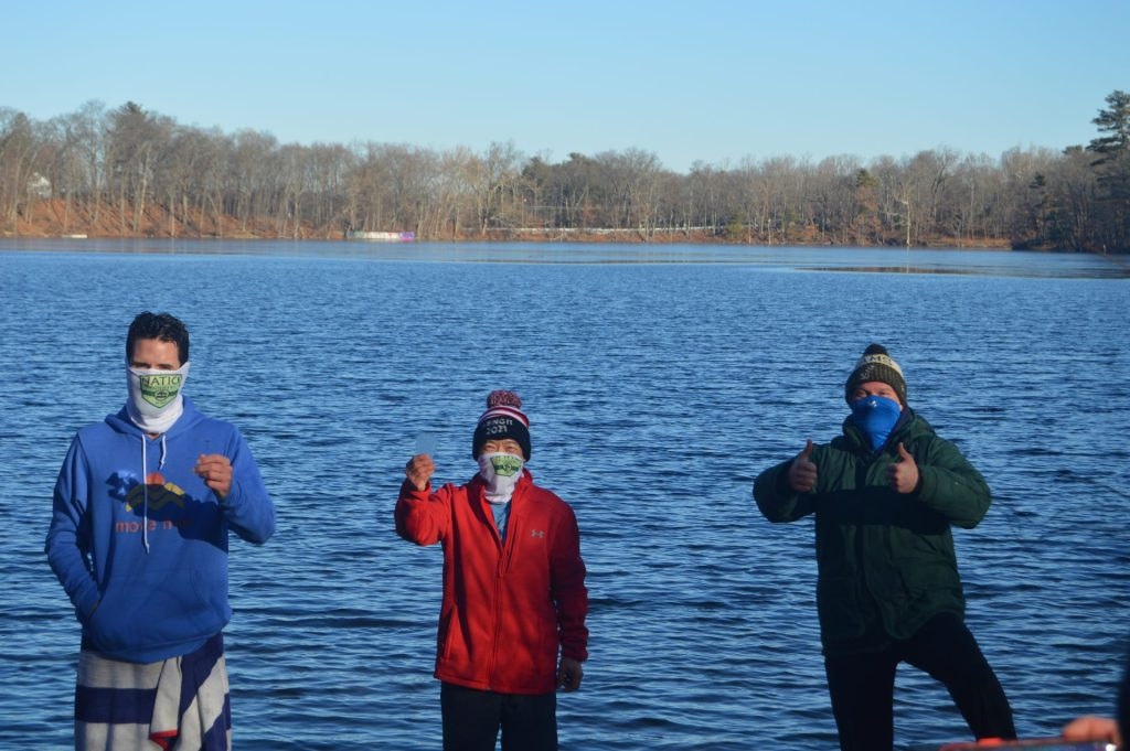 natick runners dug pond new years day