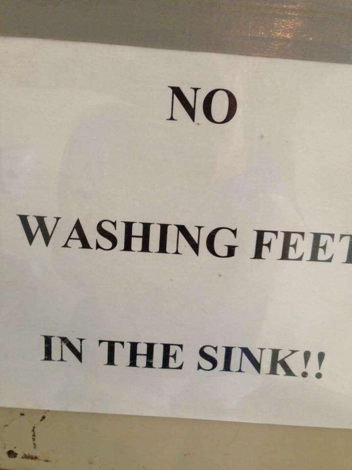 no feet washing