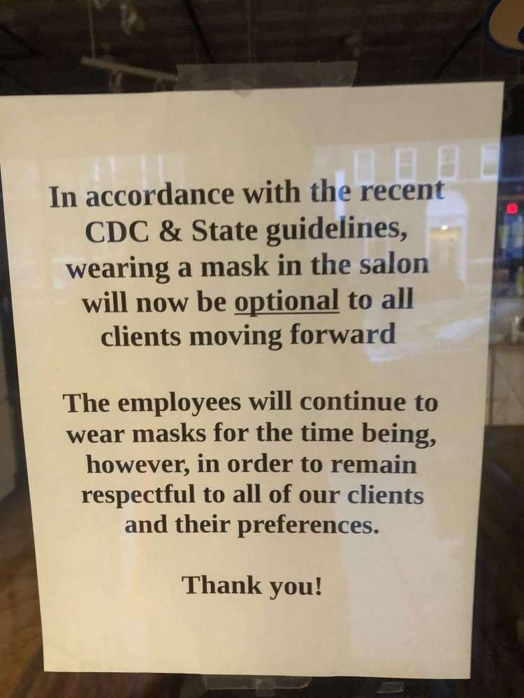 mask signs natick center