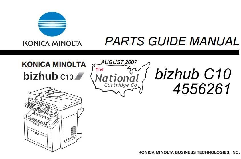 Bizhub C10 Parts Manual (PDF)