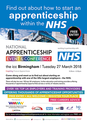 Apprentices with the NHS poster