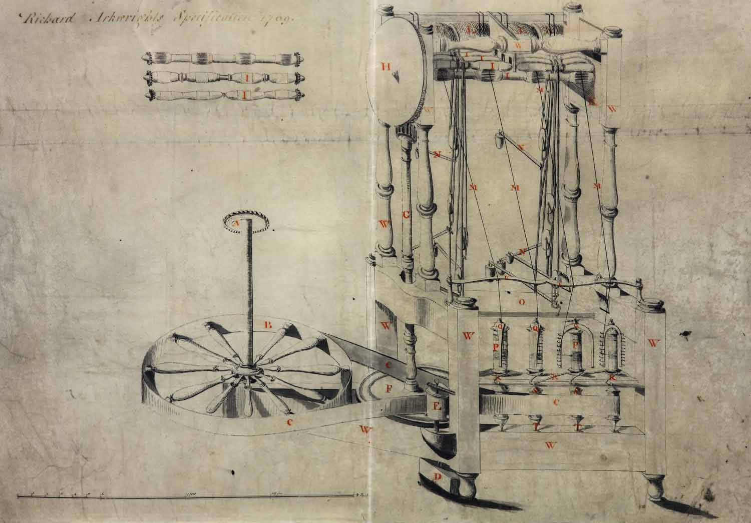 hight resolution of richard arkwright s specification for his spinning frame 1769 c73 13 m31