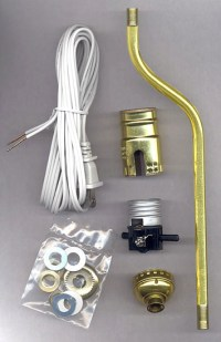 """Lamp Making Kits with 2"""" Offset Bent Pipe - National Artcraft"""