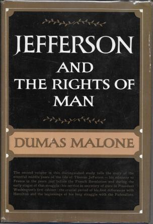 First Edition Cover of Jefferson and the Rights of Man by Dumas Malone