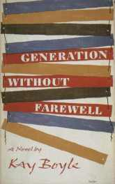 Generation Without a Farewell by Kay Boyle book cover