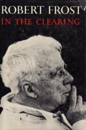 In the clearing by robert frost book cover