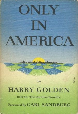 cover of Only In America by Harry Golden