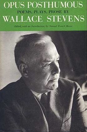 cover of Opus Posthumous by Wallace Stevens