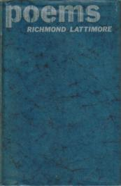 cover of Poems by Richmond Lattimore