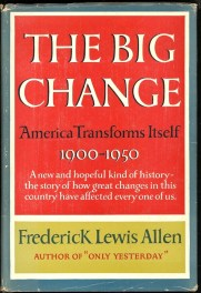 cover of the big change by frederick lewis allen