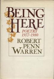 cover of Being Here by Robert Penn Warren