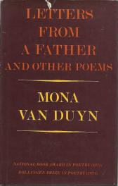 cover of Letters From a Father and Other Poems by Mona Van Duyn
