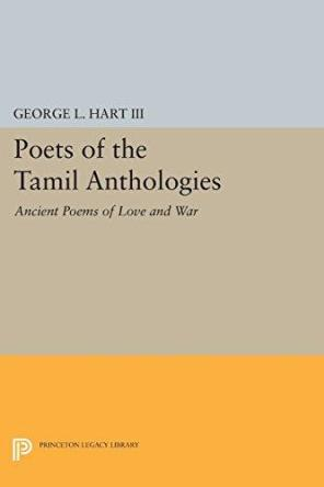 cover of Poets of the Tamil Anthologies by George L Hart III