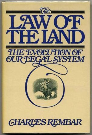 cover of The law of the land by Charles Rembar