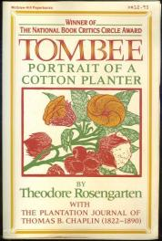 cover of Tombee Portrait of a Cotton Planter by Theodore Rosengarten