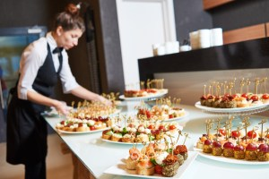 caterer preparing for holiday party ready because of restaurant business financing