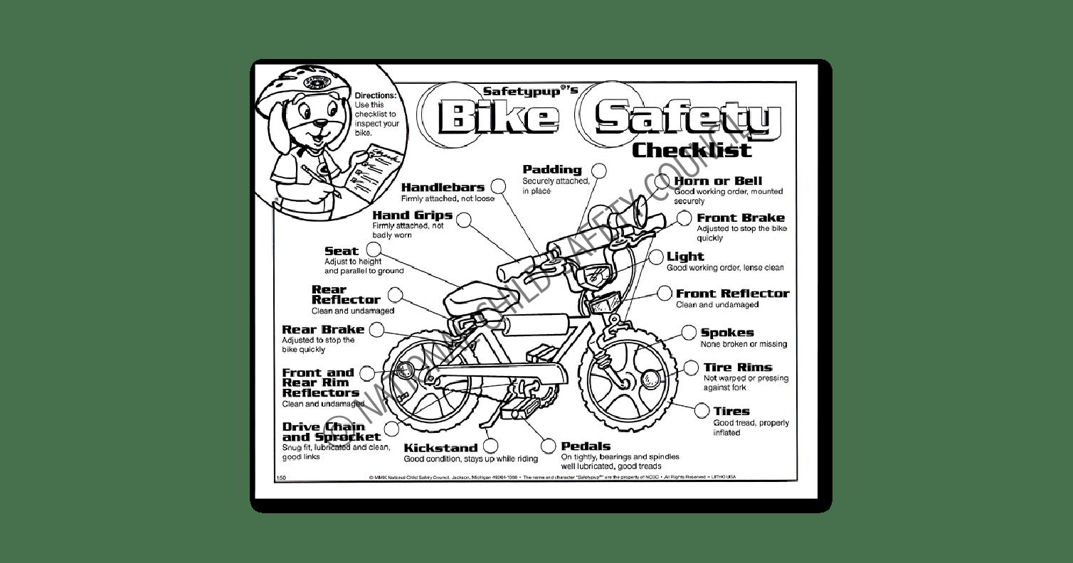 150 Safetypup S Bike Safety Checklist