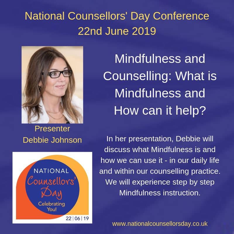 Debbie Johnson at National Counsellors' Day 2019