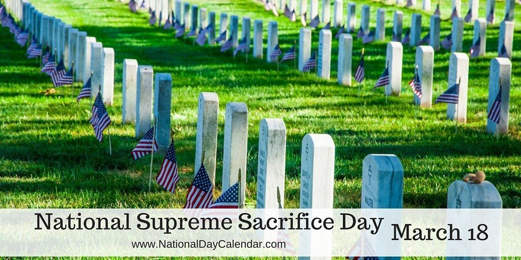 National Supreme Sacrifice Day - March 18