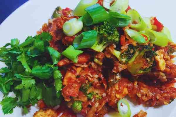 Chinese Chicken Fried Cauliflower Rice Paleo Caveman Healthy National Dish