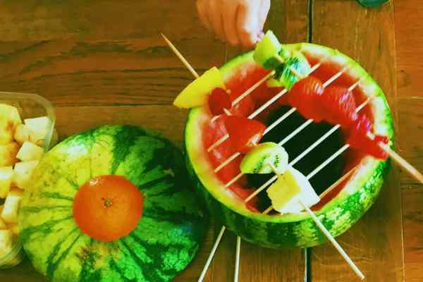 Indoor watermelon BBQ will get your kids stuffing their face with fruit