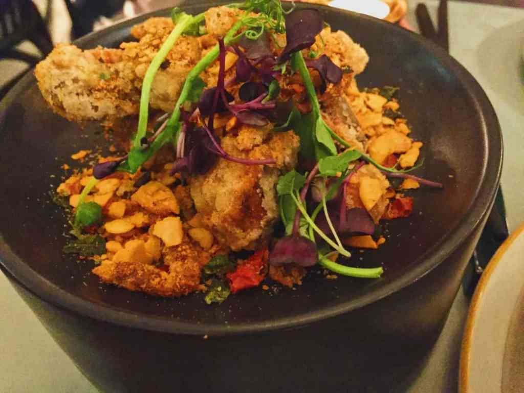 Duddell's soft shell crab with almonds