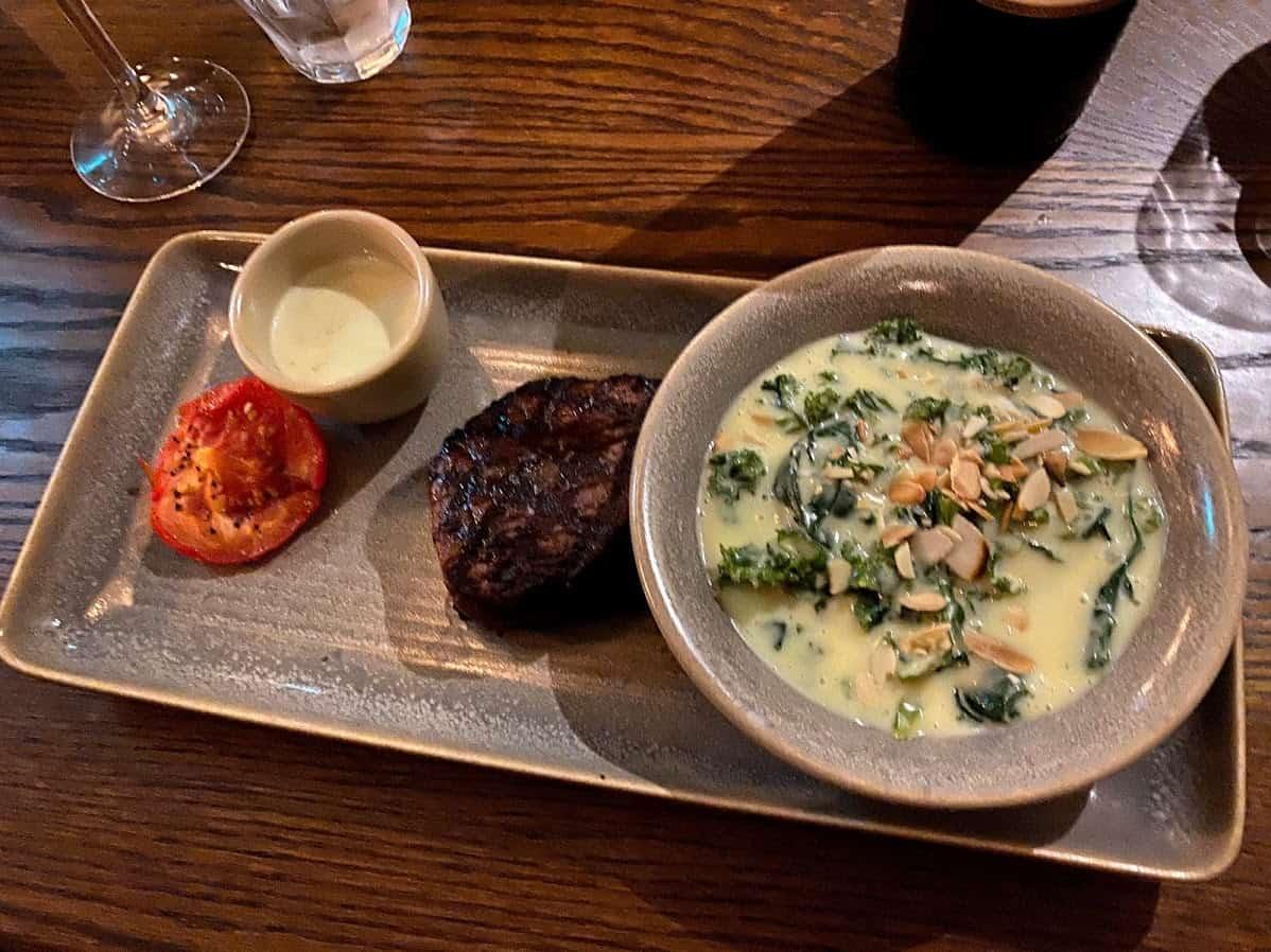 Fillet Steak - with Greens - 8oz