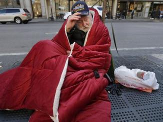 homeless US veteran