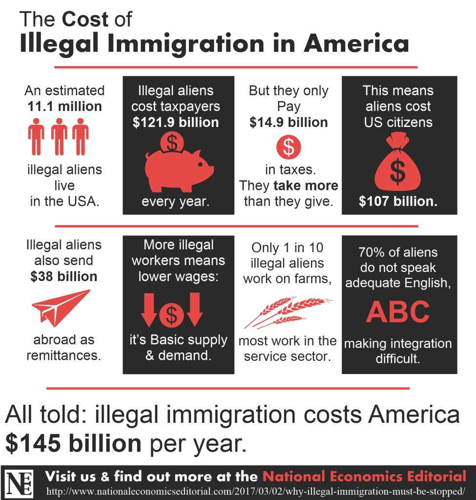 cost of illegal immigration in america infographic