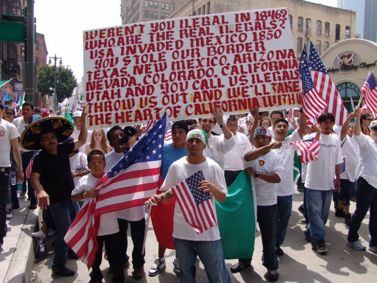 illegal immigrants protest