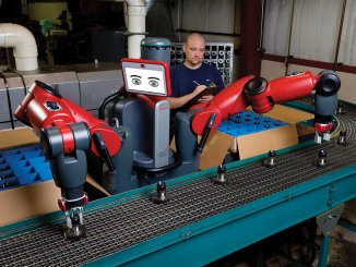 the automated assembly line robot, Baxter, can interact with humans without code
