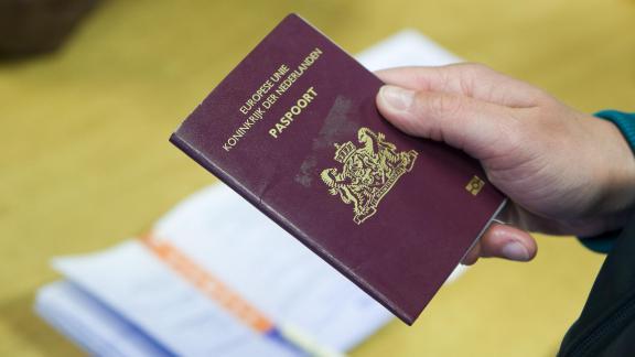 Foto van een paspoort