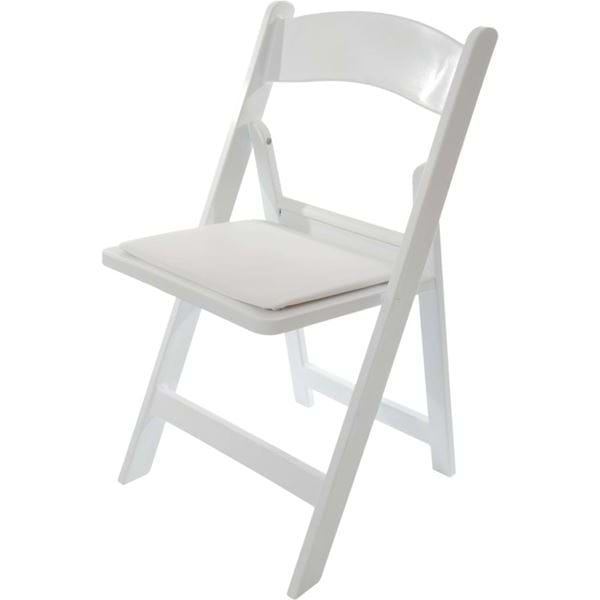 White Resin Folding Chairs  National Event Supply
