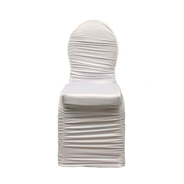 ruched chair covers crochet christmas spandex banquet cover national event supply white front