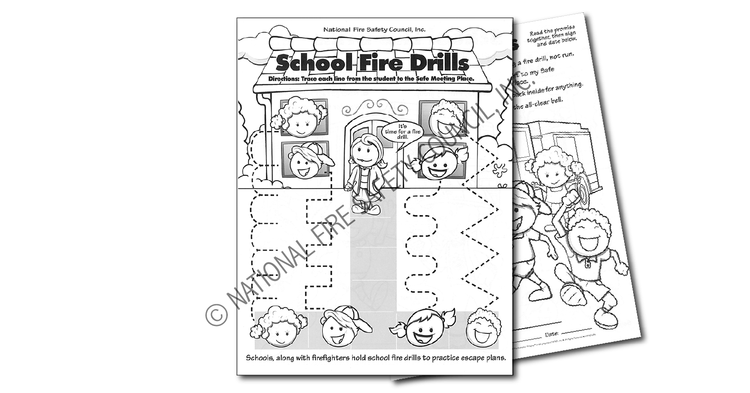 219f School Fire Drill Color Activity Sheet