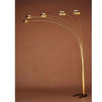 Floor Lamps: Brass Plated Overhead Sofa Lamp 1245 CO ...