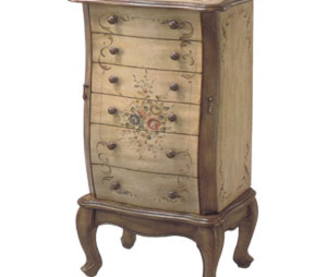 Hand Painted Jewelry Armoire  Itm
