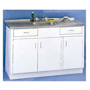 Sink  Wall Cabinets 60 Sink Metal Base Without Drawer ARC  NationalFurnishingcom