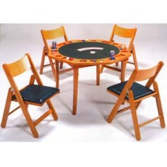 Card Table And Chair Set Wedding Covers Reddit Home Games 5 Piece Oak W Chairs 6184 86 Wd