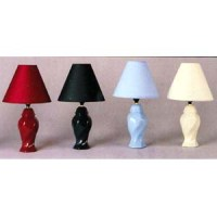 Table Lamps: Ceramic Boudoir Lamp 713 WD