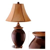 Table Lamps: Deep Red Lamp 900227 CO @ NationalFurnishing.com