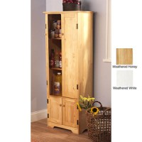 Storage Cabinets: Extra tall Solid Pine Wood Storage ...